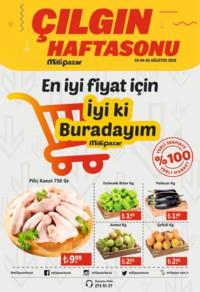 Milli Pazar Market 03 - 05 Ağustos 2018 Kampanya Broşürü! Sayfa 1