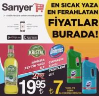 Sarıyer Market 03 - 12 Ağustos 2018 Kampanya Broşürü! Sayfa 1