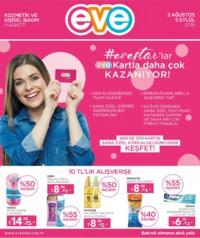 Eve Kozmetik 02 Ağustos - 05 Eylül 2018 Kampanya Broşürü! Sayfa 1