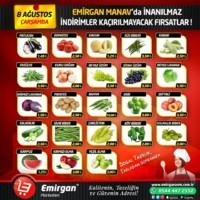 Emirgan Market 08 Ağustos 2018 Manav Broşürü! Sayfa 1