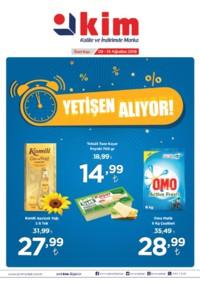 Kim Market Marmara Bölgesi 08 - 14 Ağustos 2018 Kampanya Broşürü! Sayfa 1