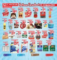 Çakmak Market 05 - 12 Ağustos 2018 Kampanya Broşürü! Sayfa 1