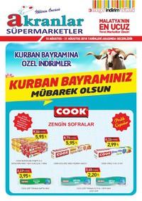 Akranlar Süpermarket 10 - 31 Ağustos 2018 Kampanya Broşürü! Sayfa 1
