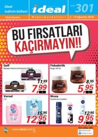İdeal Hipermarket 03 - 14 Ağustos 2018 Kampanya Broşürü! Sayfa 1