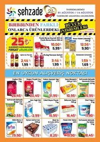 Şehzade Market 01 - 14 Ağustos 2018 Kampanya Broşürü! Sayfa 1