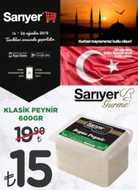 Sarıyer Market 14 - 29 Ağustos 2018 Kampanya Broşürü! Sayfa 1