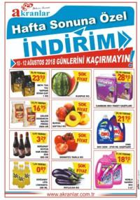 Akranlar Süpermarket 10 - 12 Ağustos 2018 Kampanya Broşürü! Sayfa 1