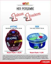 Groseri 09 Ağustos 2018 1 Alana 1 Bedava Kampanya Broşürü! Sayfa 1