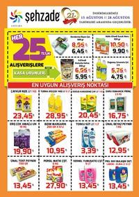 Şehzade Market 15 - 28 Ağustos 2018 Kampanya Broşürü! Sayfa 1
