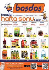 Başdaş Market 10 - 12 Ağustos 2018 Kampanya Broşürü! Sayfa 1