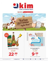 Kim Market Ege Bölgesi Özel 15 - 28 Ağustos 2018 Kampanya Broşürü! Sayfa 1