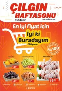 Milli Pazar Market 10 - 12 Ağustos 2018 Kampanya Broşürü! Sayfa 1