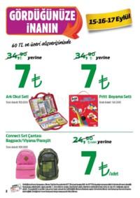 Kipa Süpermarket 13 - 26 Eylül 2018 Kampanya Broşürü: Çocuklar Okula Anne Babalar Kipa' ya! Sayfa 2