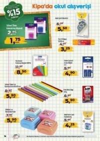 Kipa Süpermarket 13 - 26 Eylül 2018 Kampanya Broşürü: Çocuklar Okula Anne Babalar Kipa' ya! Sayfa 14 Önizlemesi