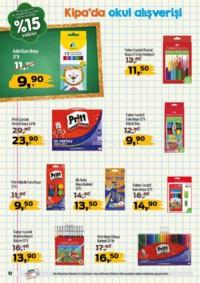 Kipa Süpermarket 13 - 26 Eylül 2018 Kampanya Broşürü: Çocuklar Okula Anne Babalar Kipa' ya! Sayfa 12 Önizlemesi