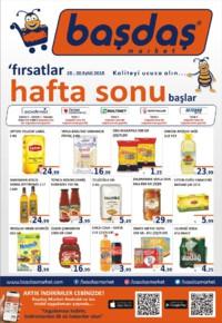 Başdaş Market 28 - 30 Eylül 2018 Kampanya Broşürü! Sayfa 1