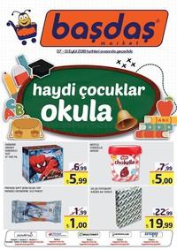 Başdaş Market 07 - 13 Eylül 2018 Kampanya Broşürü! Sayfa 1