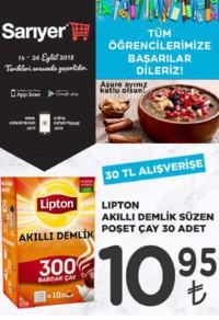 Sarıyer Market 14 - 26 Eylül 2018 Kampanya Broşürü! Sayfa 1