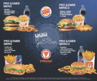 Burger King Gamer Menüler Eylül 2018 Sayfa 1