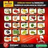 Emirgan Market 26 Eylül 2018 Kampanya Broşürü! Sayfa 1