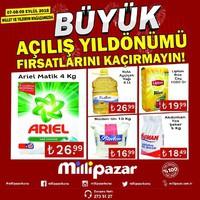 Milli Pazar Market 07 - 09 Eylül 2018 Millet ve Yıldırım Mağazası Kampanya Broşürü! Sayfa 1