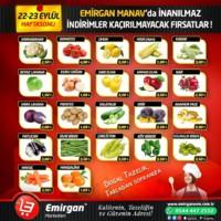 Emirgan Market 22 - 23 Eylül 2018 Kampanya Broşürü! Sayfa 1