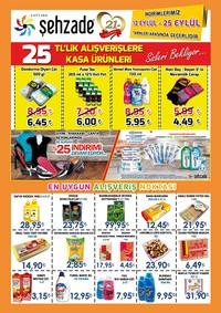 Şehzade Market 12 - 25 Eylül 2018 Kampanya Broşürü! Sayfa 1