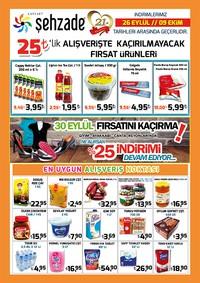 Şehzade Market 26 Eylül - 09 Ekim 2018 Kampanya Broşürü! Sayfa 1
