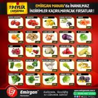 Emirgan Market 19 Eylül 2018 Kampanya Broşürü! Sayfa 1