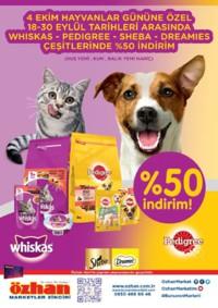 Özhan Marketler Zinciri 18 - 30 Eylül 2018 Evcil Hayvanlara Özel Kampanya Broşürü! Sayfa 1