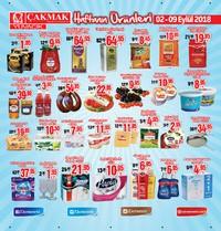 Çakmak Market 02 - 09 Eylül 2018 Kampanya Broşürü! Sayfa 1