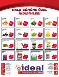 İdeal Market Ordu 17 Ekim 2018 Hal Günü Kampanya Broşürü! Sayfa 1
