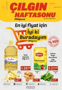 Milli Pazar Market 19 - 21 Ekim 2018 Kampanya Broşürü! Sayfa 1