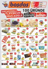 Başdaş Market 25 Ekim - 31 Aralık 2018 Enflasyonla Topyekün Mücadele Kampanya Broşürü Sayfa 1