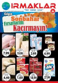 Irmaklar Market 12 - 14 Ekim 2018 Kampanya Broşürü! Sayfa 1