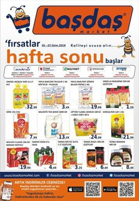Başdaş Market 05 - 07 Ekim 2018 Kampanya Broşürü! Sayfa 1