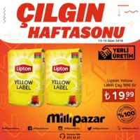 Milli Pazar Market 12 - 15 Ekim 2018 Hafta Sonu Kampanya Broşürü! Sayfa 1