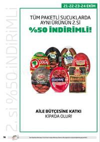 Kipa Süpermarket 11 - 24 Ekim 2018 Kampanya Broşürü! Sayfa 16 Önizlemesi