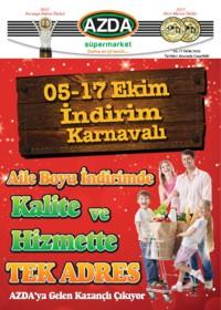 Azda Süpermarket 05 - 17 Ekim 2018 Kampanya Broşürü! Sayfa 1
