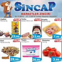 Sincap Marketler Zinciri 06 - 07 Ekim 2018 Fırsat Ürünleri Sayfa 1
