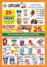 Şehzade Market 10 - 23 Ekim 2018 Kampanya Broşürü! Sayfa 1