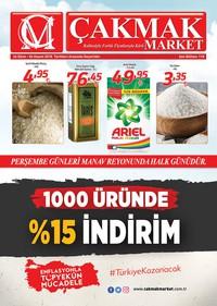Çakmak Market 26 Ekim - 04 Kasım 2018 Kampanya Broşürü! Sayfa 1