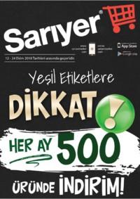 Sarıyer Market 12 - 24 Ekim 2018 Kampanya Broşürü! Sayfa 1