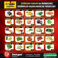 Emirgan Market 17 Ekim 2018 Manav Reyonu Kampanya Broşürü! Sayfa 1