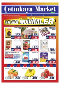 Çetinkaya Market 10 - 21 Ekim 2018 Kampanya Broşürü! Sayfa 1