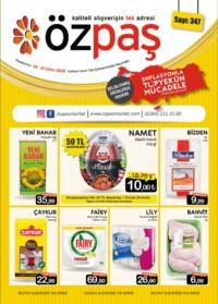 Özpaş Market 18 - 31 Ekim 2018 Kampanya Broşürü! Sayfa 1