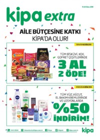 Kipa Extra 11 - 24 Ekim 2018 Kampanya Broşürü: Aile Bütçesine Katkı Kipa' da Olur! Sayfa 1
