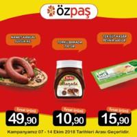 Özpaş Market 07 - 14 Ekim 2018 Kampanya Broşürü! Sayfa 1