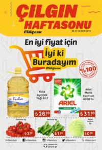 Milli Pazar Market 26 - 28 Ekim 2018 Kampanya Broşürü! Sayfa 1