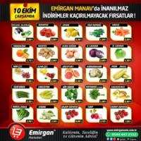 Emirgan Market 10 Ekim 2018 Manav Kampanya Broşürü! Sayfa 1